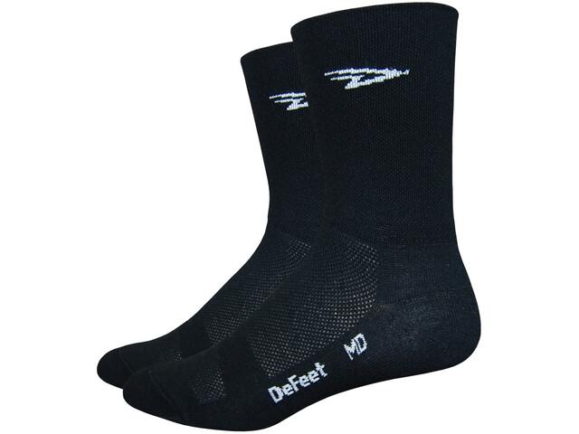 """DeFeet Aireator 5"""" Cykelstrømper, d-logo/black"""